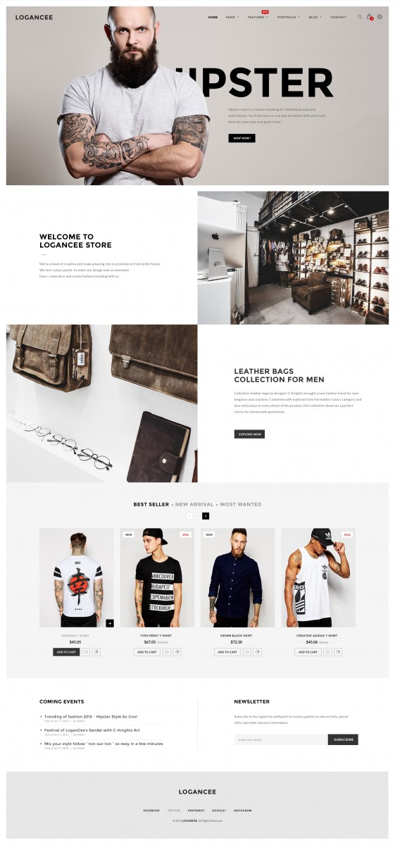 free ecommerce site design