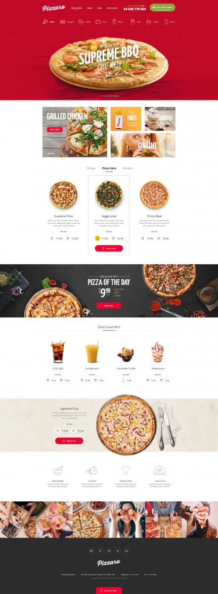 Food Online Ordering eCommerce PSD