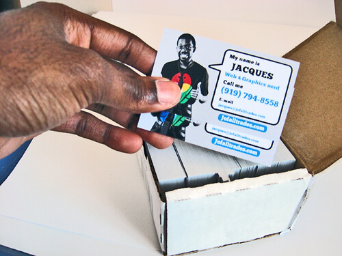 Use Business Cards and Postcards