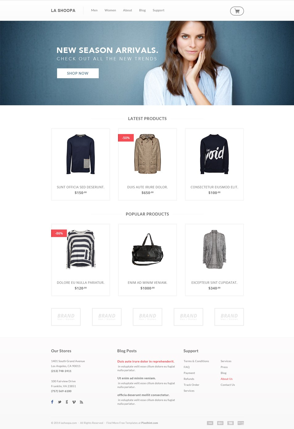 A fashion website - Here Is A Clean And Simple Free Psd Ecommerce Design Website Template This Is An Ecommerce Template For A Fashion Focused Storefront