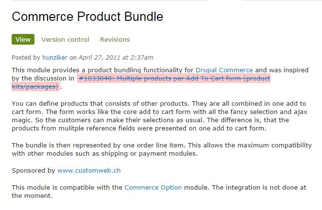 The Drupal Commerce product bundle debacle