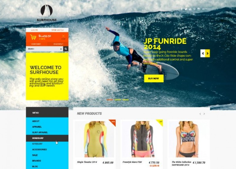 Free Clothing Store eCommerce PSD