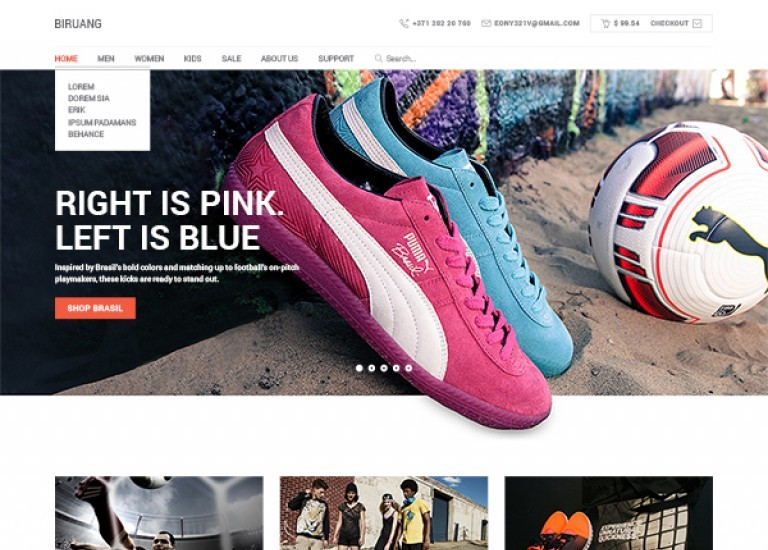 Free Ecommerce Website Template PSD