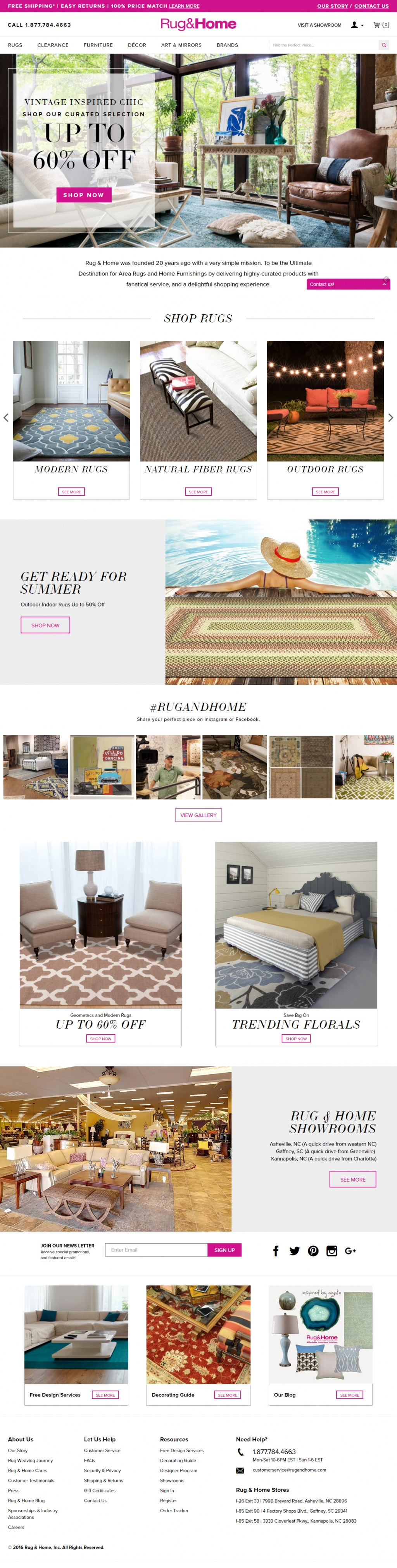 Rug & Home on Cart Craze - eCommerce