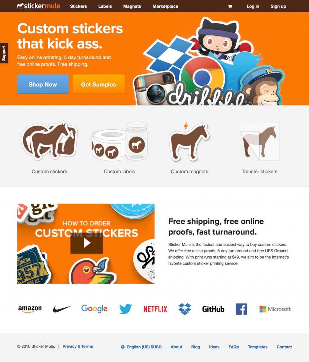 Sticker Mule on Cart Craze - eCommerce Website Design, Examples, and ...