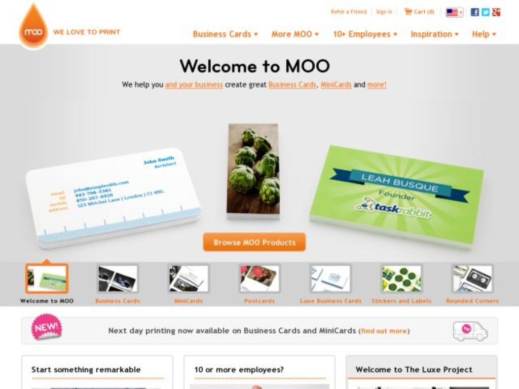 moo on cart craze ecommerce website design examples and inspiration