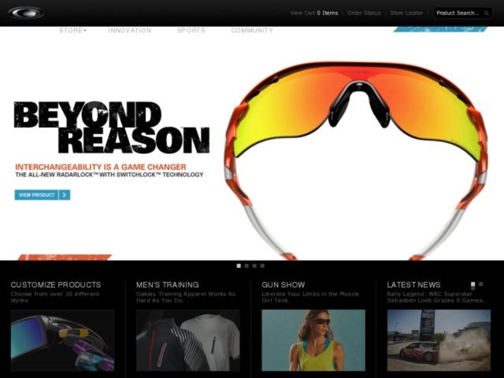 070348164f Oakley on Cart Craze - eCommerce Website Design