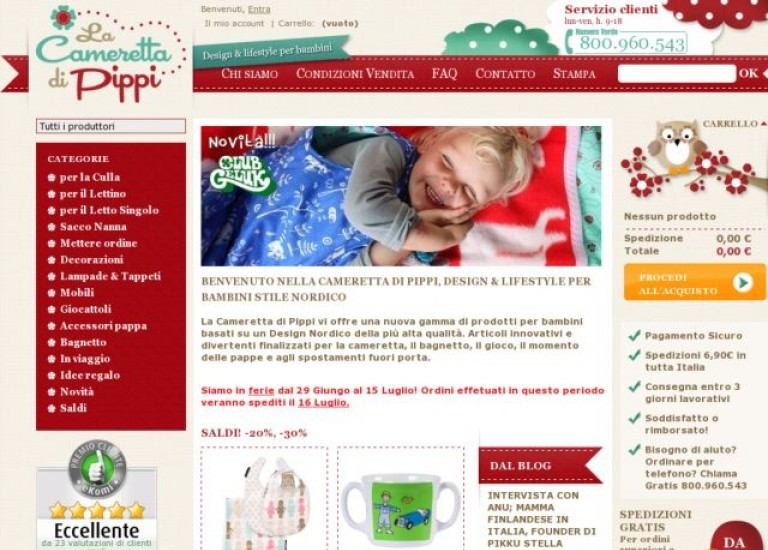 Cameretta Di Pippi On Cart Craze Ecommerce Website Design